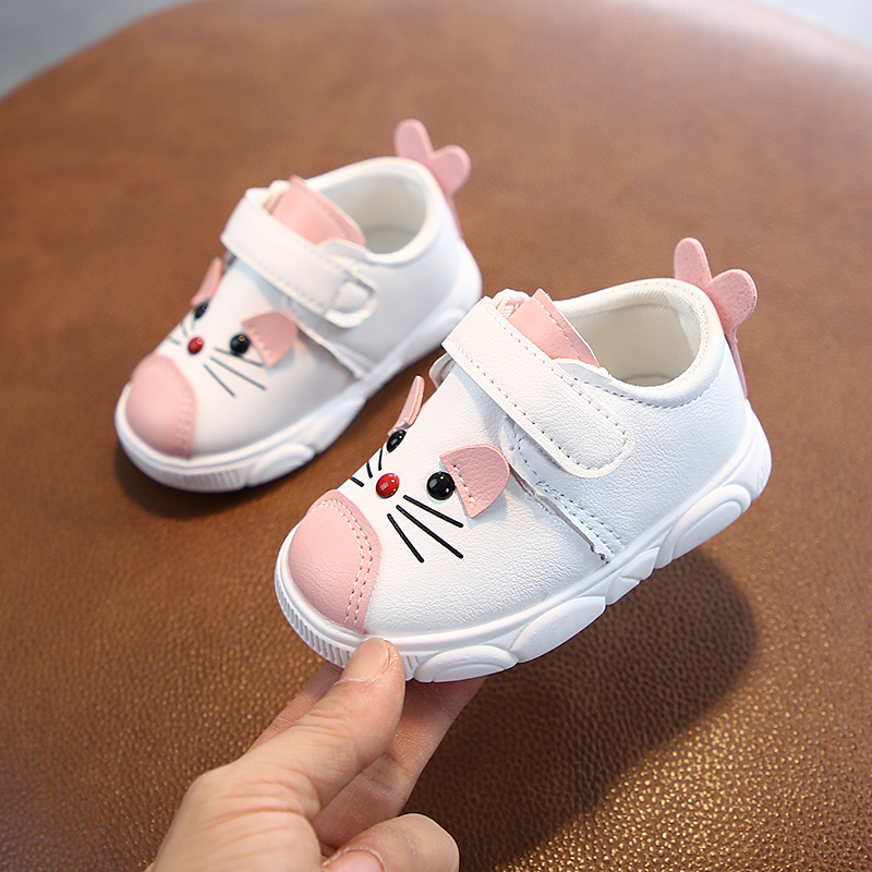 Baby Shoes Sneakers Boys Girls Toddler Shoes Kids Soft Bottom Casual Sneakers Children Cartoon Shoes Non-slip Soft Leather Shoes