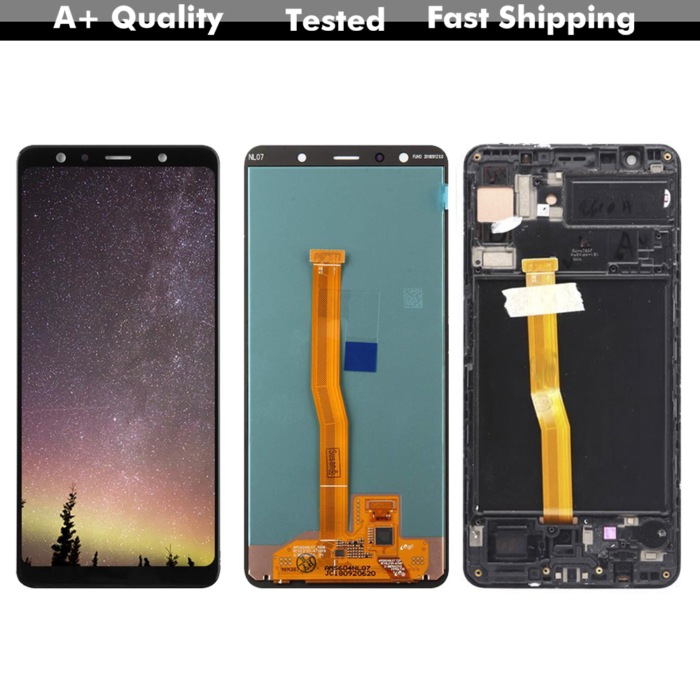 Super AMOLED LCD For Samsung Galaxy A7 2018 A750 LCD Display Touch Screen Assembly Replacement Part For A750 SM-A750F A750F