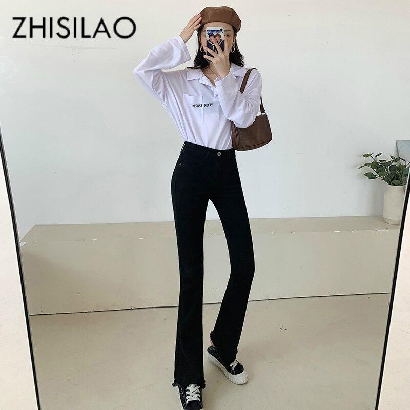 Flare Jeans Women Plus Size Vintage Skinny Jeans Maxi High Waist Elastic Boyfriend Denim Pants Jeans 2020 Retro Mom Jeans