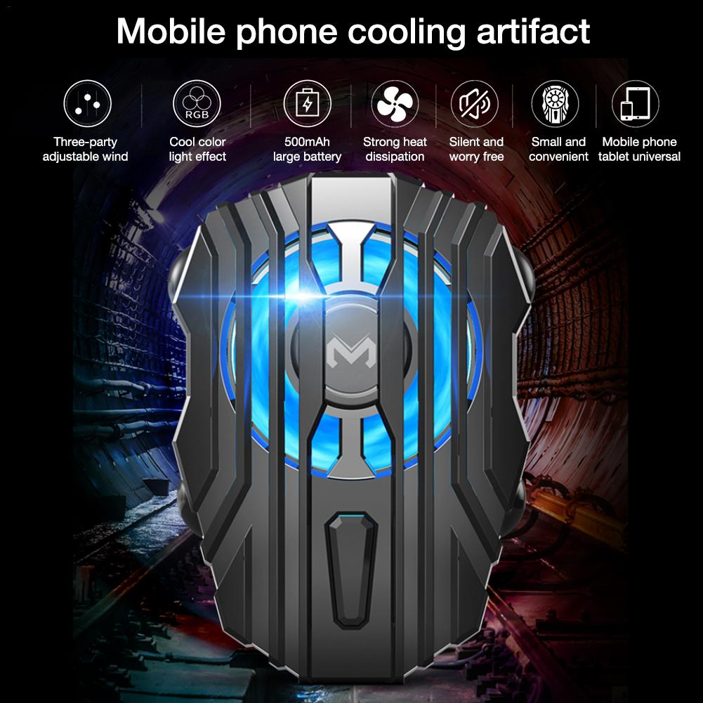 For MEMO Mobile Phone Radiator Cold Wind Handle Fan Fl01 For PUGB Mobile Phone Cooler Controller LED Light Cooling Fan