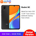 Смартфон Xiaomi Redmi 9C глобальная версия 3 ГБ ОЗУ 64 Гб ПЗУ MediaTek Helio G35, 6,53 дюйма, 5000 мАч, камера 13 МП