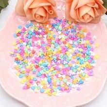 Kscraft misturado lantejoulas em forma de coração para diy cartão que faz a coleção da cor do ofício