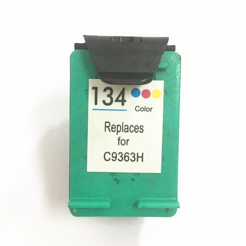 Vilaxh 134 Substituição do Cartucho de Tinta Compatível para HP 134 Para Hp Deskjet 5743 6623 6843 6523 5943 6983 7313 7413 2713 8153 de impressora