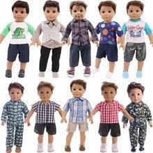 Yüksek kaliteli takım elbise oyuncak bebek giysileri için 18 inç kız bebek ve 43 CM yeni doğan bebek bebek ve bizim nesil & 18 inç erkek oyuncak bebek
