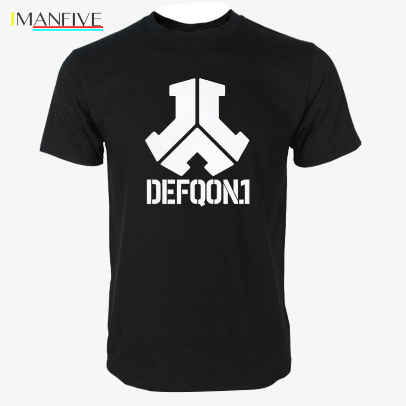 Defqon Print T Shirts Men 39 s New Arrival Summer Style Short Sleeve Men t shirt 2019 O Neck Hip Hop Top in T Shirts from Men 39 s Clothing