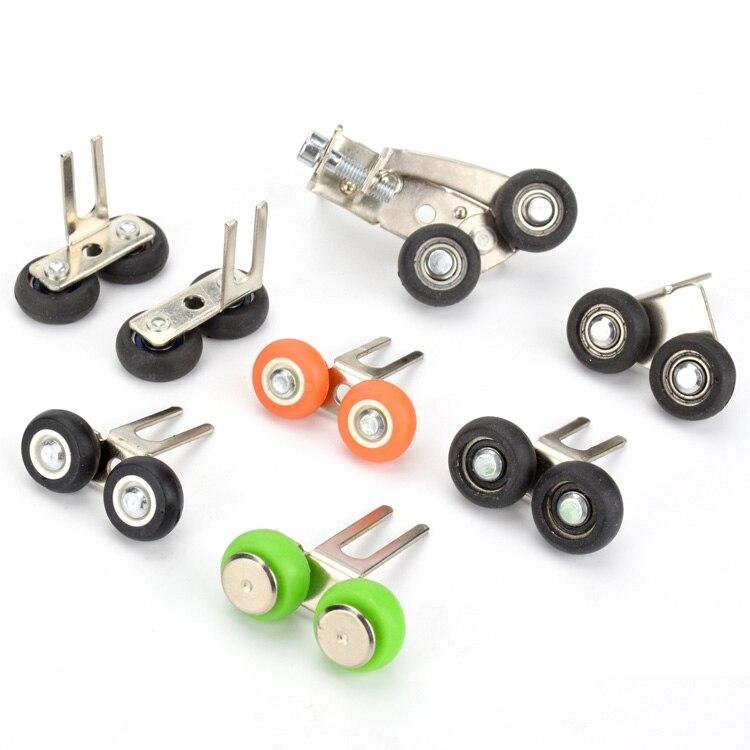 Upper Top Pulley 2-wheels Roller For Cabinet Mechanical Door Bathroom Sliding Door Bearing 39mm35mm Adjustable Upper Wheel.
