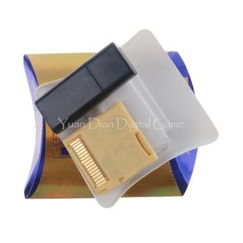 R4 SDHC goud wit zilver videogamekaart downloaden door zelf met doos (zonder TF-kaart)