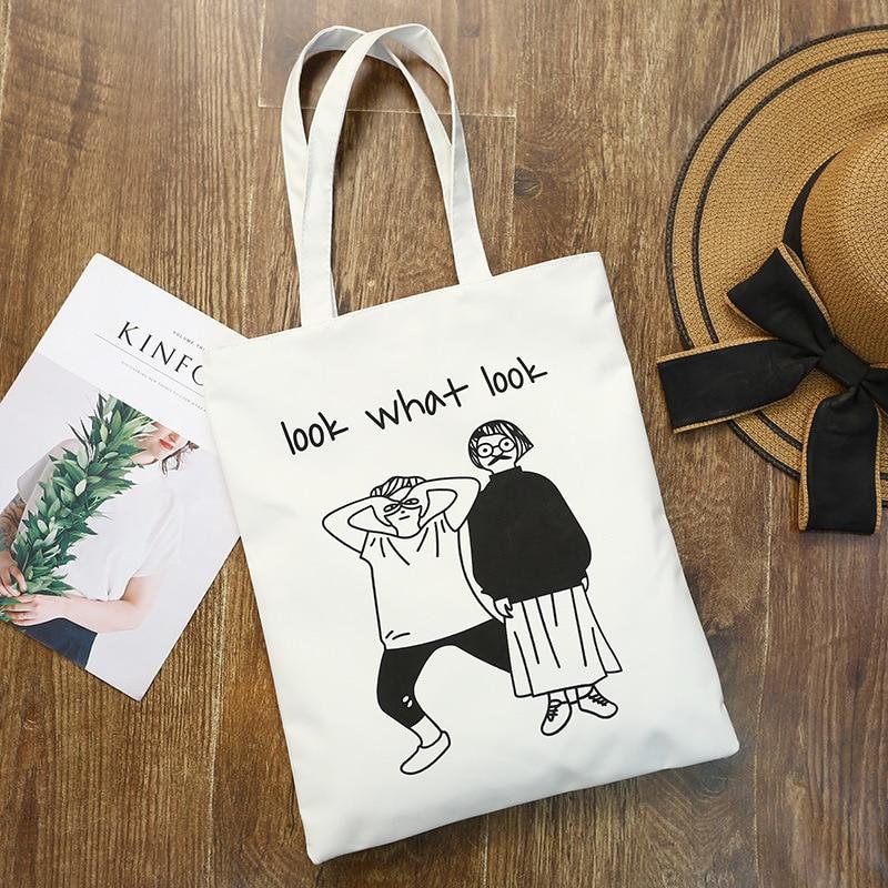 Casual Literary Ladies Canvas Bag Storage Canvas Big Bag Shoulder Shopping Green Environmental Protection Bag New Customizable
