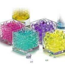 100 шт./пакет, гидрогелевый гель для почвы с кристаллами, детские игрушки, Водяные Шарики для выращивания воды, свадебное украшение для дома в ...