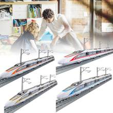 1:87 Train Traffic Toy Set Alloy High-speed Rail Toy Car Boy Subway Train Electric Toy Children New Year Gift(China)