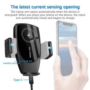 Image 3 - Suntaiho 15w qi sem fio carregador de carro aperto automático para o iphone 11 promax samsung s10 s9 note10 8 respiradouro ar montar suporte do telefone