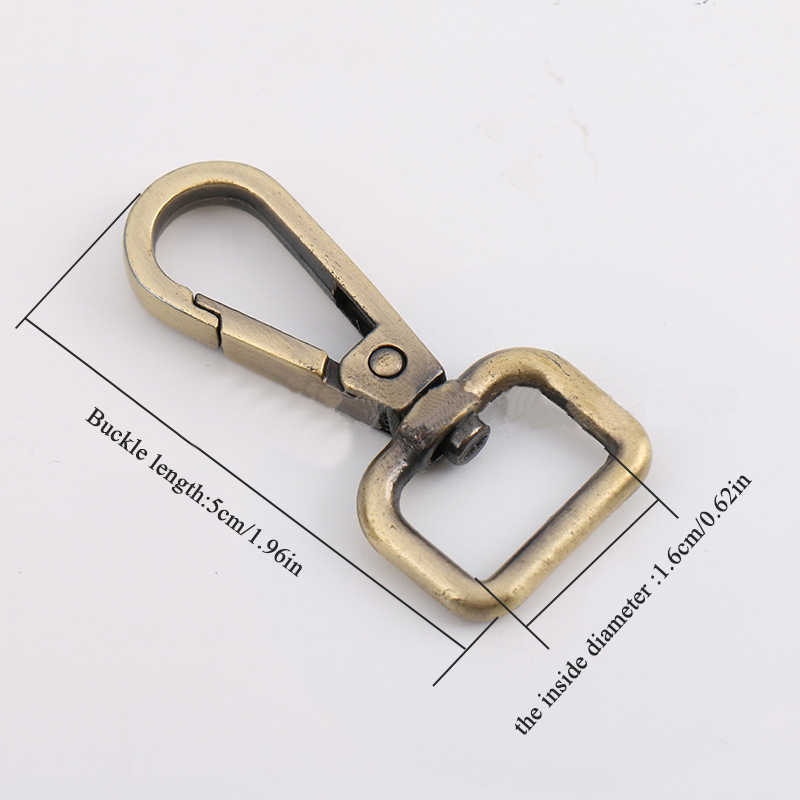 5cm 2PCS מתכת וו קליפים אבזמים להסרה הצמד וו תיק רצועת חגורת חגורה לחיות מחמד רצועה ווי DIY החלפה אביזרי תיק