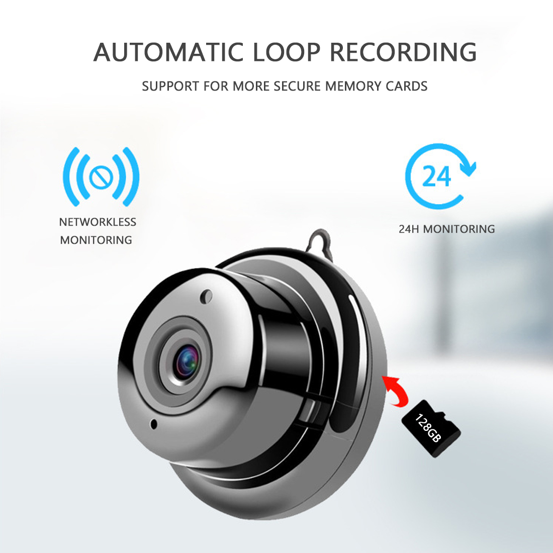 V380 Wireless Camera 1080P Mini Wifi Camera IP Camera CCTV IR Night Vision Motion Detection 2-Way Audio Home Security With Stand