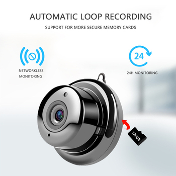 V380 Wireless Camera 1080P Mini Wifi Camera IP Camera CCTV IR Night Vision Motion Detection 2-Way Audio Home Security with Stand babykam ip camera monitor ir night vision 2 way talk pir motion detection alarm wifi camera monitors for ios android max 32g
