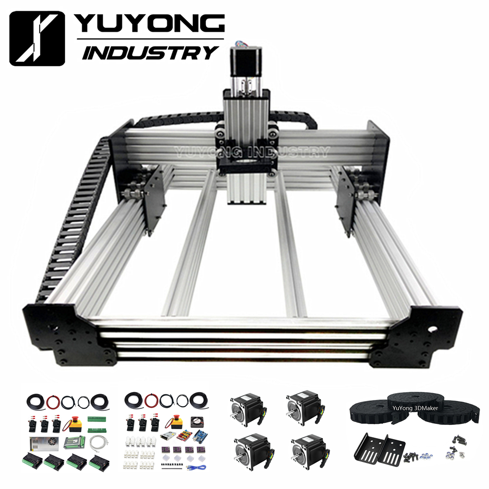 New Version Workbee CNC Router Machine Bundle( Mechanical Kit + Mach3 GRBL Controller Combo +  Drag Chain Combo)