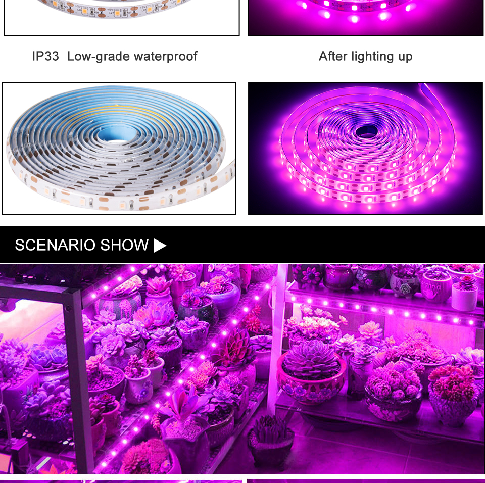 FOXGBF LED Full-spectrum light belt to promote plant growth, sunlight effect, indoor planting succulent and leafy plate planting (8)