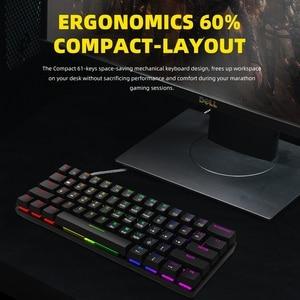 Image 3 - Smart Duck Teclado mecánico XS61 60%, conmutador rgb, led, software tipo c, doubleshot, macro programa, azul, rojo, marrón y negro
