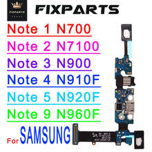 купить For Samsung Galaxy Note 1 2 3 4  5 9 Charging Port Flex Cable Dock Connector N7000 N7100 N900 N9005 N910F N920F Charger Board дешево