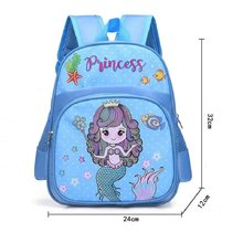 Mermaid Ariel School Bag for Girls Boys Kindergarten Nursery Backpack Waterproof Schoolbag Satchel Kids Book Bag Mochila Escolar(China)