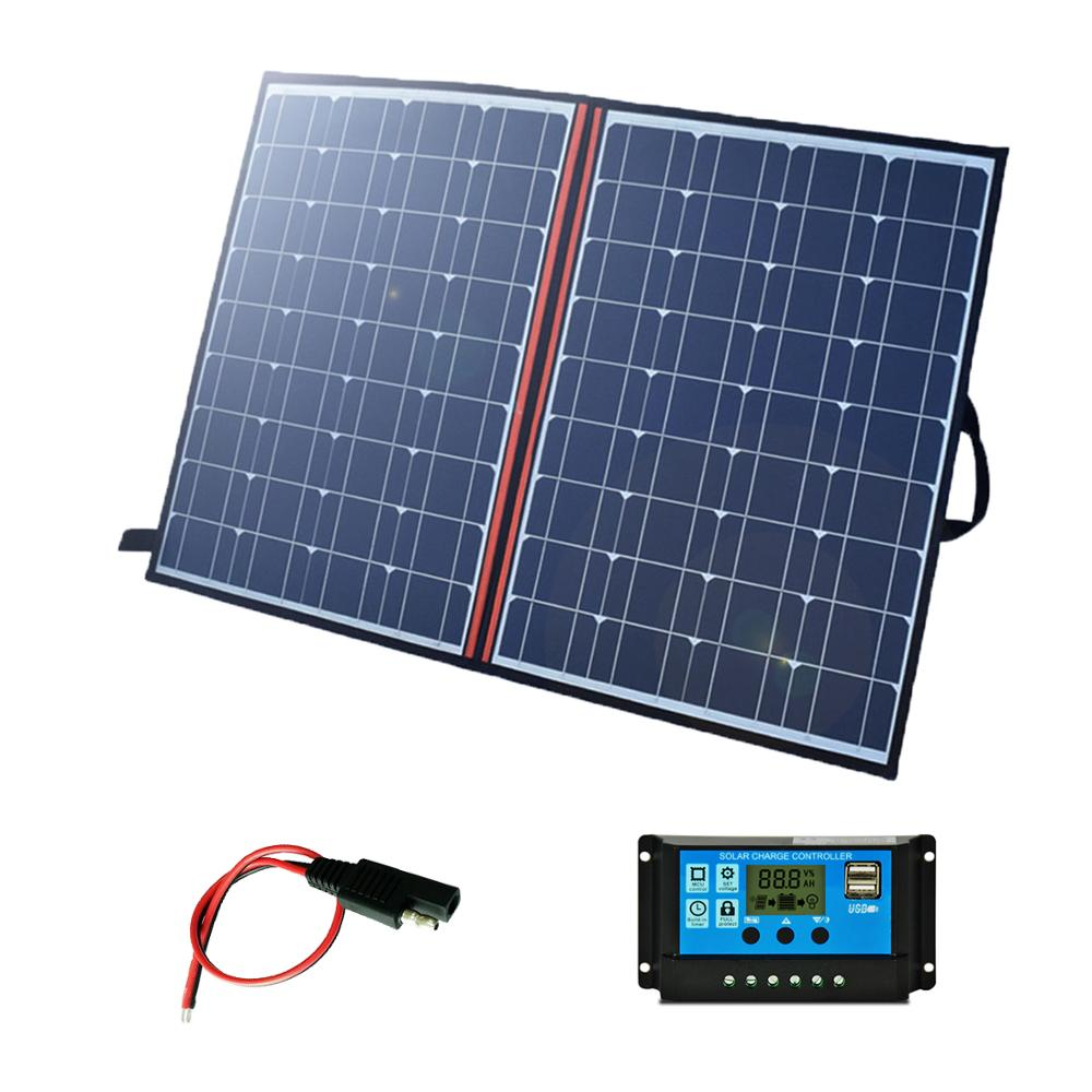 100 W 110W 120W 140w <font><b>150W</b></font> 18v Foldable <font><b>Solar</b></font> <font><b>Panel</b></font> Portable Outdoor cheap <font><b>solar</b></font> <font><b>panels</b></font> china for Hiking Car&Boat battery Charger image