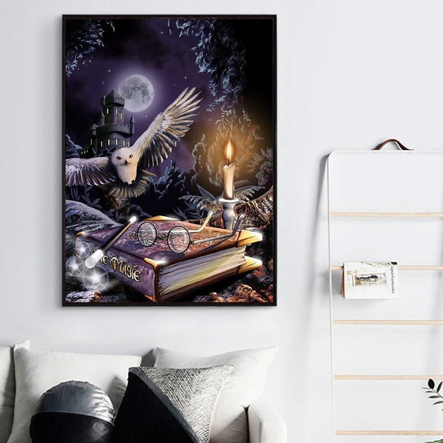 Harry Potter Magicians Owl Hogwarts Painting Decor Paint By Numbers Kit DIY