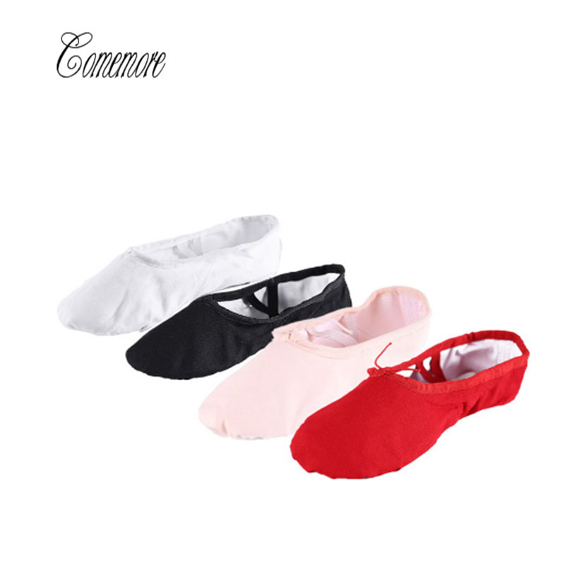 Comemore 2019 Black Yoga Slippers Gym Teacher Yoga Ballet Dance Shoes For Girls Women White Ballet Shoes Canvas Kids Children