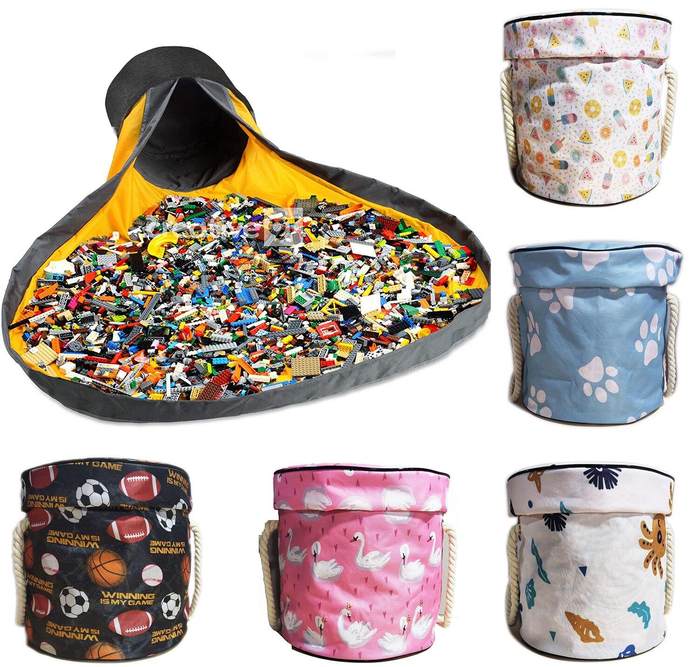 Складная сумка для хранения игрушек, портативная и произвольная сборка, базовый аксессуар, для сборки игрушек