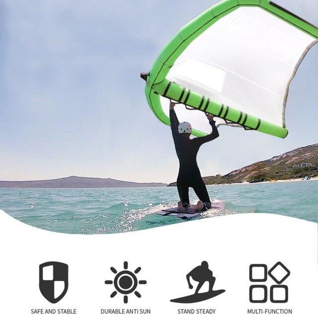 Inflatable Surfing Kite Flying Wing Handheld E-Surf Wing Kite Surfboard Kite for Outdoor Water Sports Kitesurfing Kiteboarding 1