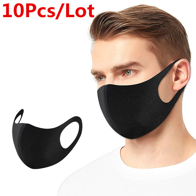 100/10 Pcs N95 Reusable Mouth Mask PM2.5 FPP3 Anti Haze Dust Mask Carbon Mouth-muffle Bacteria Proof Flu Face Windproof Masks