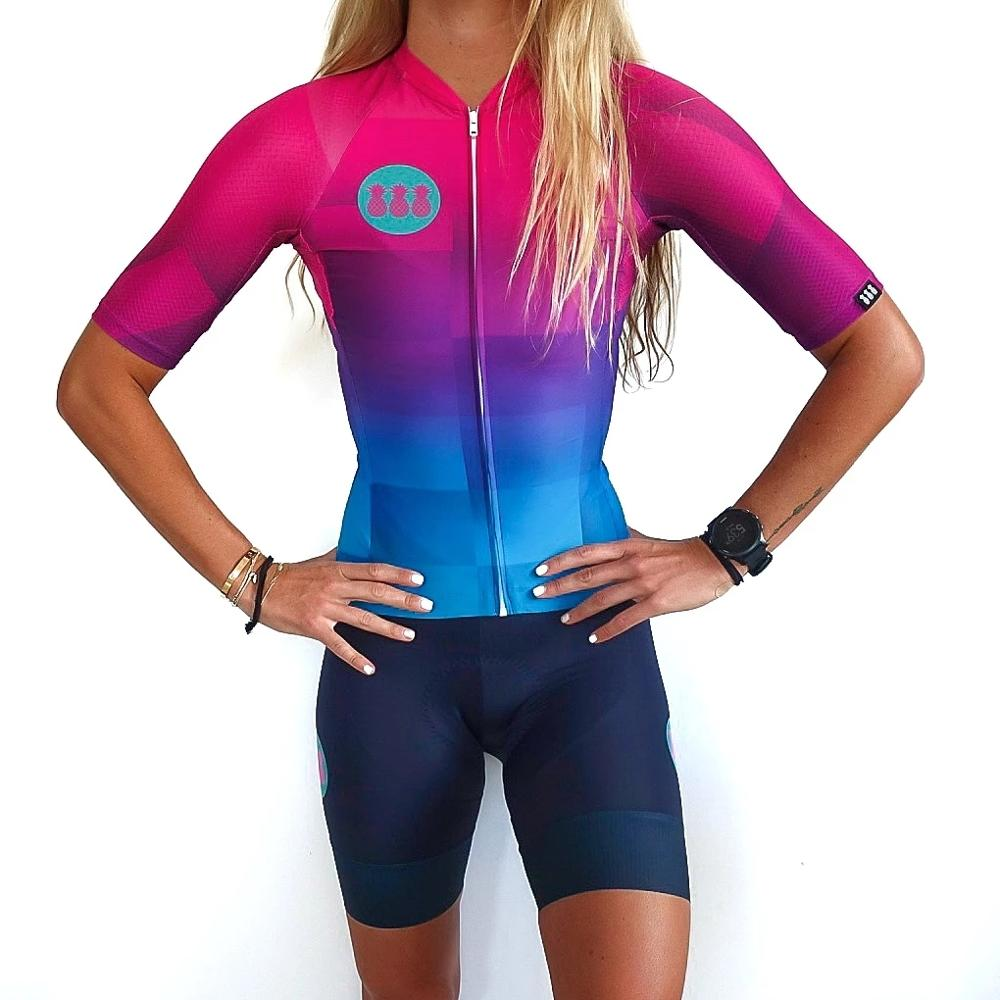 Cycling Jersey Set 2020 Women Cycling Suit Summer Bike Clothing Cycle Jersey Bib Short Set Wear Gel Pad MTB Clothes Road Suit