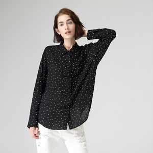 Image 2 - Toyouth Fashion Women Polka Dot Blouses And Shirts Autumn Casual Turn Down Collar Long Sleeve Chiffon Blouse