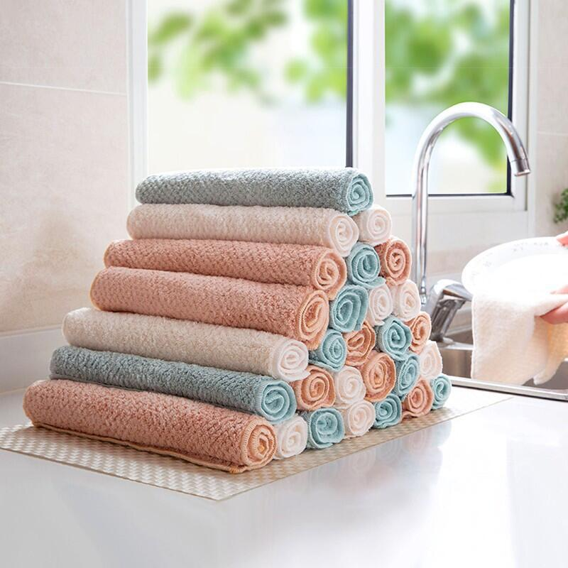 Домашние полотенца из микрофибры для абсорбент для кухни, плотная ткань для очистки, салфетки, кухонные полотенца, Прямая поставка|Чистящие салфетки|   | АлиЭкспресс