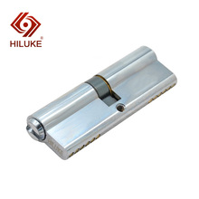 HILUKE 90mm zinc alloy lock core security double open lock cylinder three keys hihg quality 90 center 45 45 lock core double side copper blade security door lock high security lock core double open anti snap anti drill