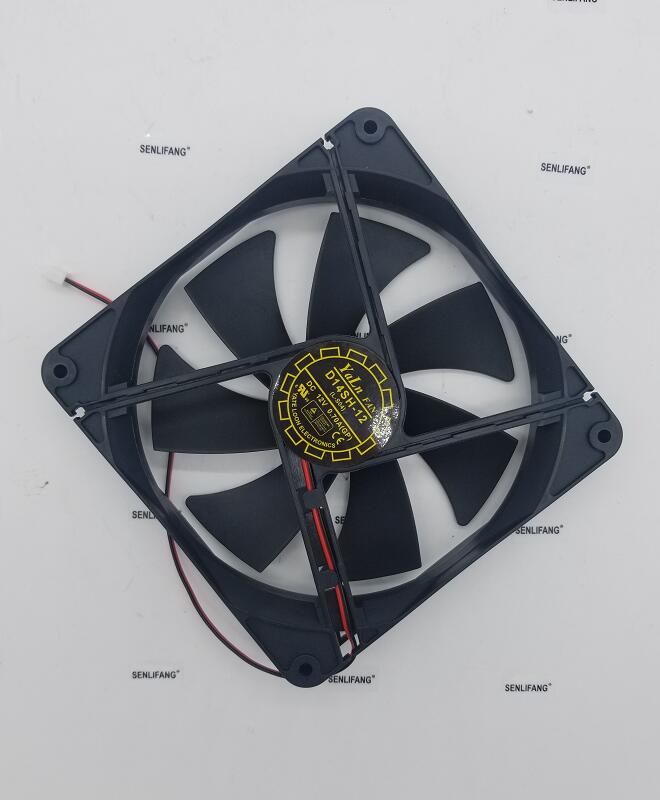 For Yate Loon D14SH-12 DC 12V 0.70A 140x140x25mm 2-Wire Server Cooler Fan Free Shipping