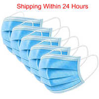 Mouth Masks Anti Dust Face Mask Disposable Mask 3-laye Filter Non-woven Dustproof Meltblown Cloth Masks Earloops Protective Mask