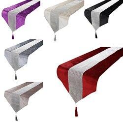 Cor sólida diamante corredores de mesa moderno corredor de mesa para festa de casamento chirstmas decoração casa toalha de mesa do hotel pano