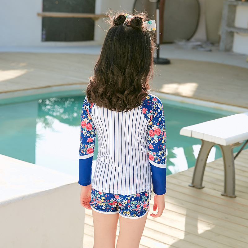 2019 New Style Children's Swimwear Long Sleeve Split Type Athletic Girl's Girls Children Swimwear
