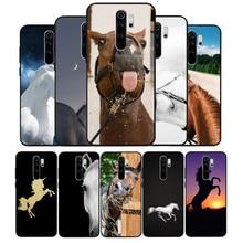 Чехол для телефона с изображением лошади животного для Xiaomi Redmi note 9 8 7 6 5 4 Pro S для redmi 4A 4X 5 Plus 5A 7A, чехол