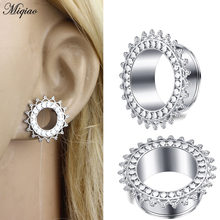 Miqiao 2 Pcs Stainless Steel Ear Gauges Ear Expander Ear Plugs and Tunnels Body Jewelry for Women Men(China)