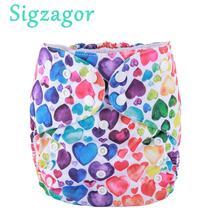 [Sigzagor]3pcs 2 כדי 7 שנים גדול חיתולי בד, חיתול, כיס, לשימוש חוזר רחיץ, Microfleece פנימי, תינוק ילדים פעוט Junior