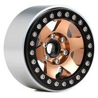 INJORA 4PCS Metal 6 Spokes 1.9 Beadlock Wheel Hub Rim for 1/10 RC Crawler Axial SCX10 90046 AXI03007 Traxxas TRX4 RedCat MST 4