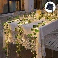 Guirnalda de luces LED de 10M para decoración de bodas, plantas artificiales, hojas verdes, hiedra, vid