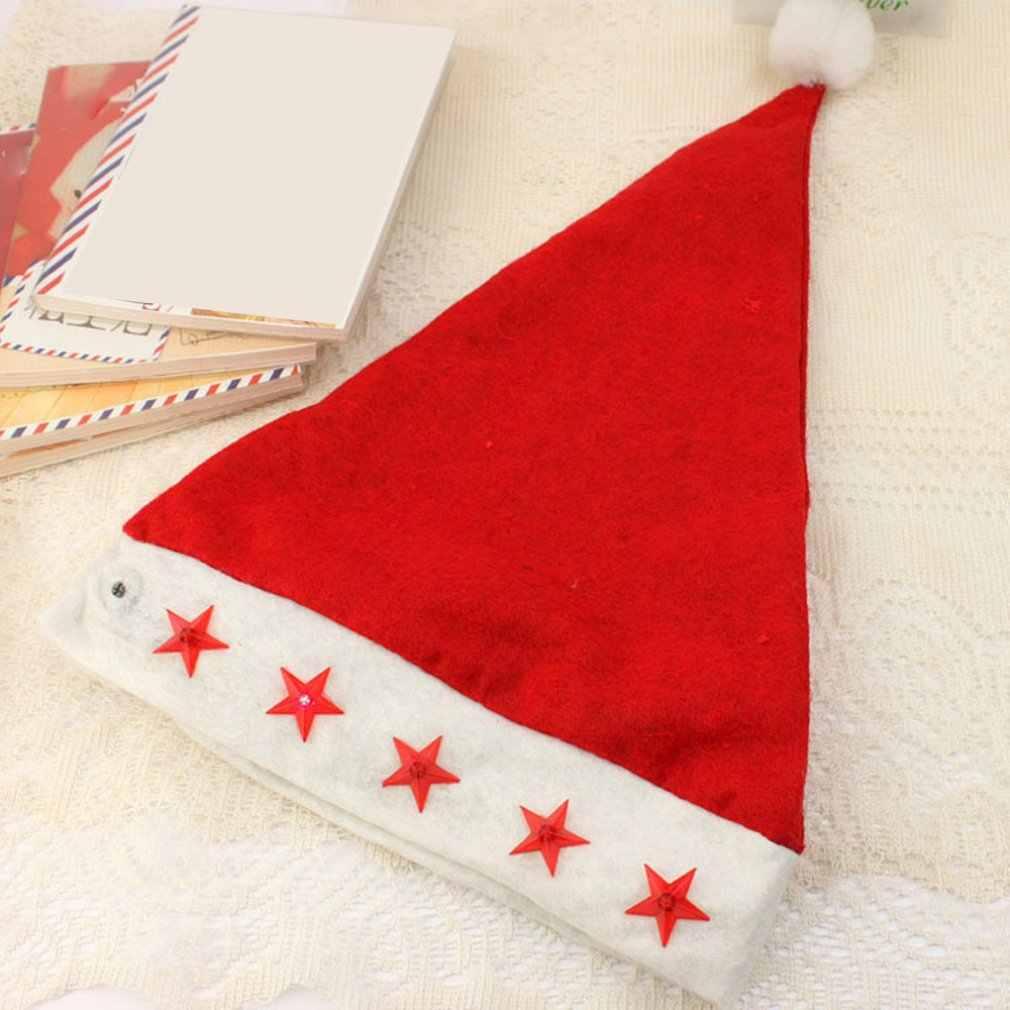 Natal Dekorasi Natal Topi Natal Light Hat Lima Menunjuk Bintang Pola Dekoratif Cap