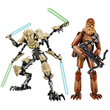 купить Star Wars Toy Action Figure Leia Han Solo Yoda Luke Sith Lord Darth Vader Maul Revan Dooku Sidious Building Blocks bricks Toys дешево