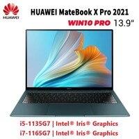 HUAWEI-portátil Matebook X Pro 2021, ultrafino, pantalla táctil 3K de 13,9 pulgadas, Intel Iris Xe, i5-1135G7/i7-1165G7, Windows 10, Inglés