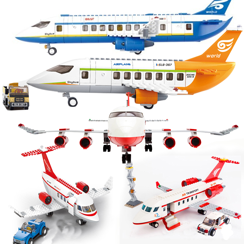 Legoinglys City Friends Plane Airplane Sets Airport Station Kits Helicopter Figure Building Blocks Kids Toys Brick Toys