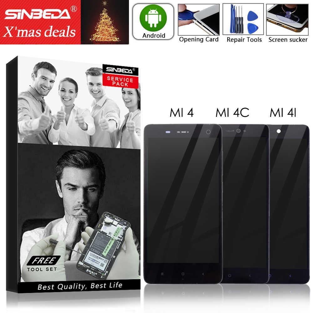 """5.0 """"orijinal ekran için XIAOMI Mi4C için çerçeve ile LCD dokunmatik ekran Xiaomi Mi4C LCD ekran Mi 4 4C 4i Mi4i LCD değiştirme"""
