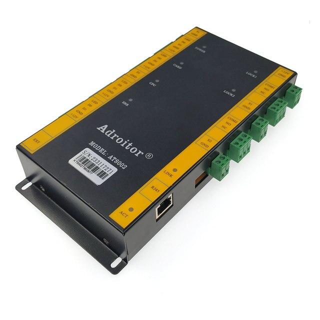 Più nuovo controllo di accesso TCP/IP a due Porte di controllo di accesso wg26/34 di sostegno del lettore di presenze/accesso/allarme/finger/web/telefono, sn:A 02