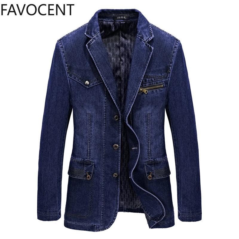 Novo blazer dos homens de alta qualidade primavera jeans jaqueta casaco masculino moda denim blazer terno masculino negócios casual terno topo