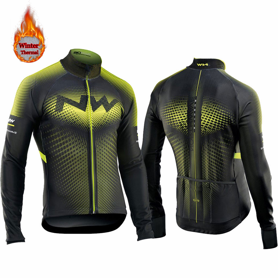 Bike-Clothing Bicycle-Wear Long-Sleeve Ciclismo-Tops Fleece Maillot Winter Nw Jersey